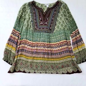 Dress Barn Multi Color Tunic Top